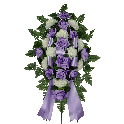 Lavender & White Artificial Sympathy Spray