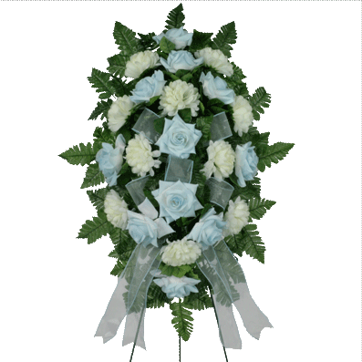 Light Blue Artificial Sympathy Spray