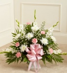 Pink With White Sympathy Floor Basket