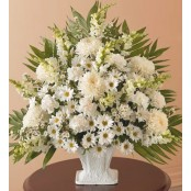 Sympathy Basket In White